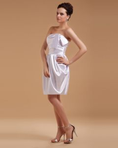 Satin Bowtie Short Bridal Gown Wedding Dress