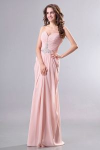 2015 Superb Sleeveless Pink Sweetheart long Evening Dresses