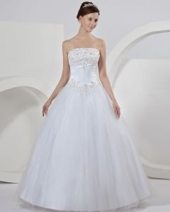 Stylish Tulle Embroidery Ball Gown Wedding Dress