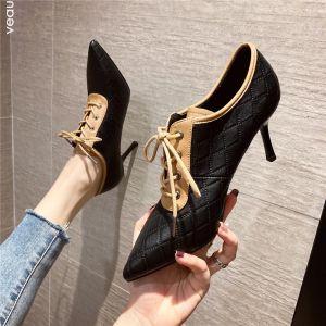 Mode Sorte Streetwear Pumps 2020 7 cm Stiletter Spidse Tå Pumps