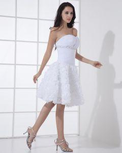 Satin Spitze Liebsten Kurz Brautkleider Hochzeitskleid