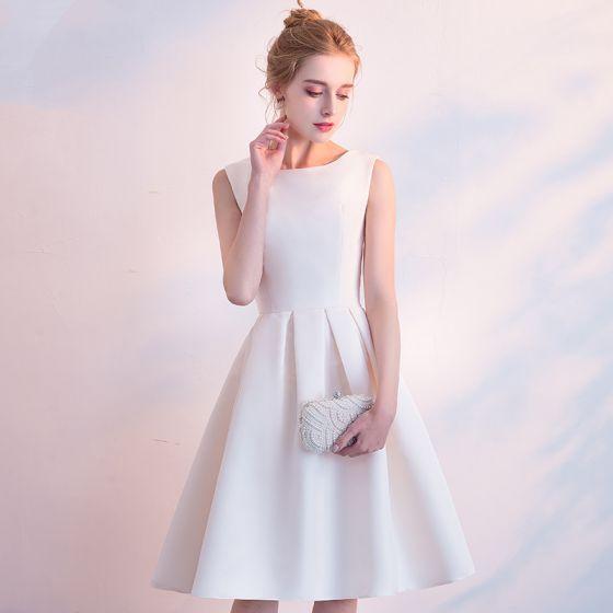knee length graduation knee length white dress with sleeves