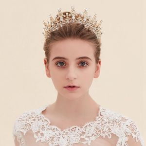 Goud Zilveren Tiara Glitter Kristal 2017 Bruidssieraden