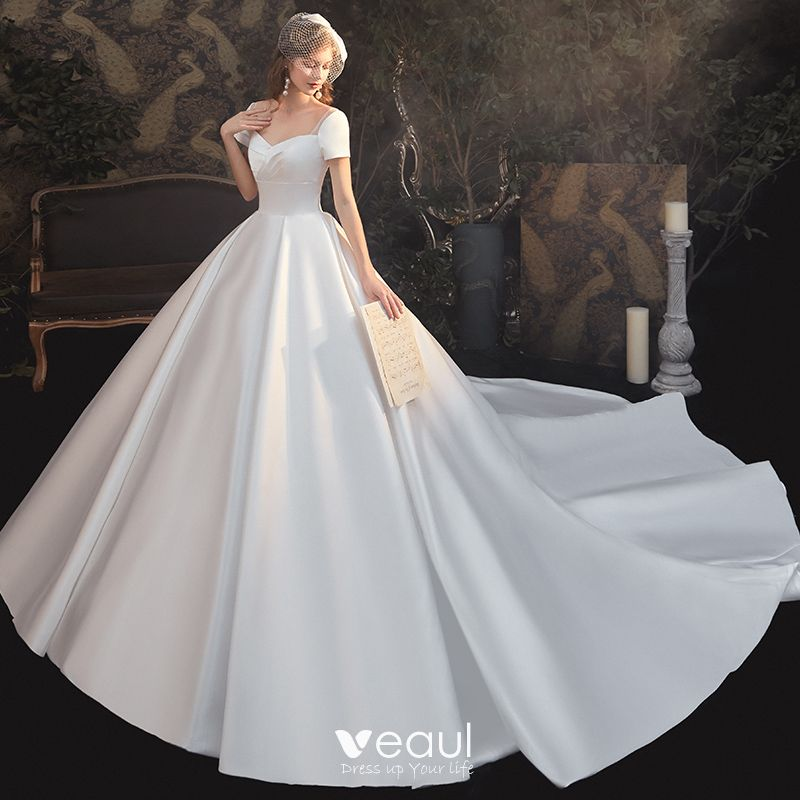Satin Wedding Dresses 2020