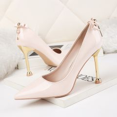 Affordable Beige Casual Pumps 2020 9 cm Stiletto Heels Pointed Toe Pumps