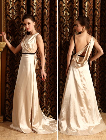 9e8684618 2015 De Moda Una Línea De Hombros Vestidos De Noche Palabra De Longitud Faja
