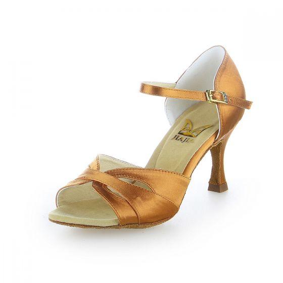 Vintage / Retro Bronze Prom Latin Dance Shoes 2021 7 cm Stiletto Heels Open / Peep Toe Womens Sandals High Heels