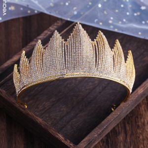 Unieke Zilveren Bruids Haaraccessoires 2019 Metaal Rhinestone Tiara Huwelijk Accessoires