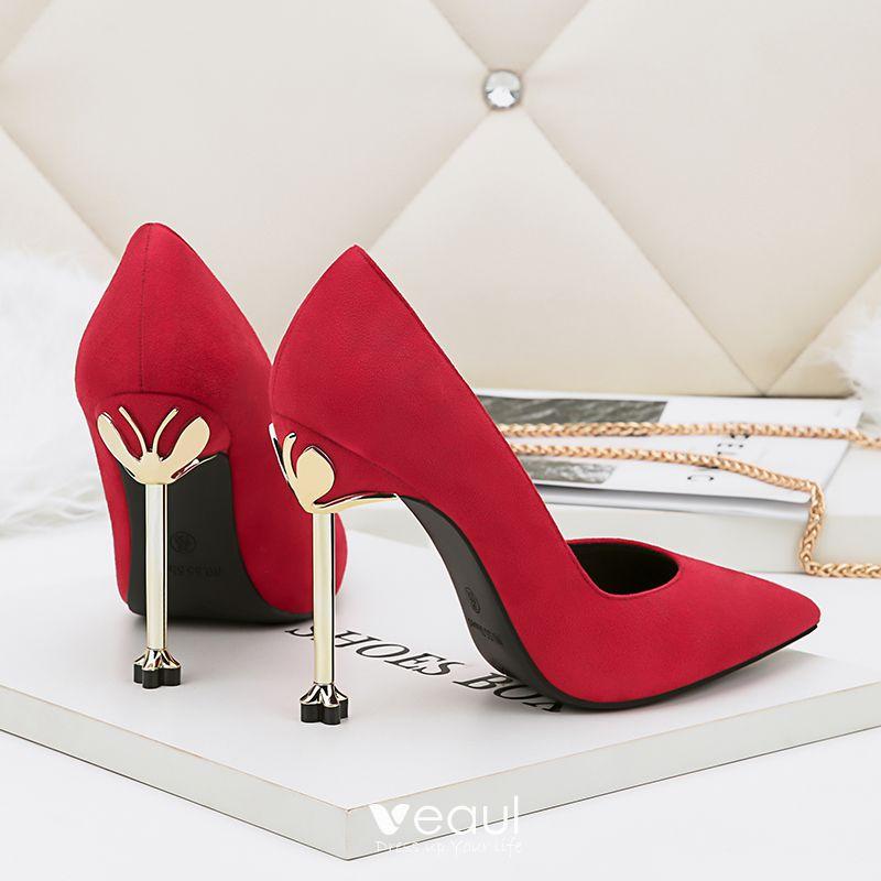 Red Evening Heels