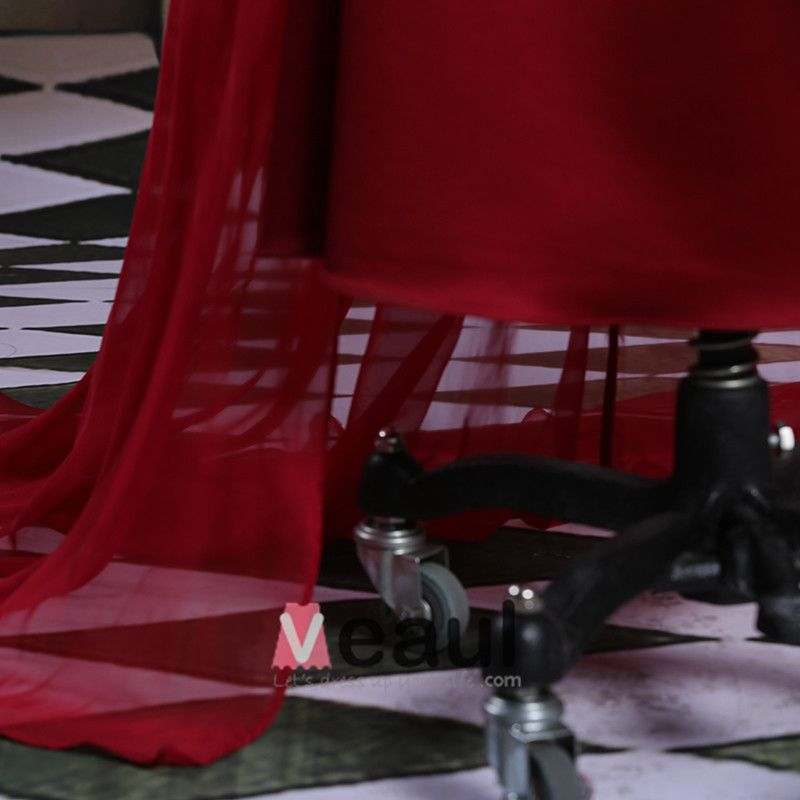 2015 Elegant Spitze Mit Perlen Schultern Roten Abendkleid Mutter Der Braut Kleid