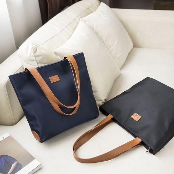 Schlicht Quadratische Tragetasche Einkaufstasche Schultertaschen 2021 Segeltuch Freizeit Damentaschen