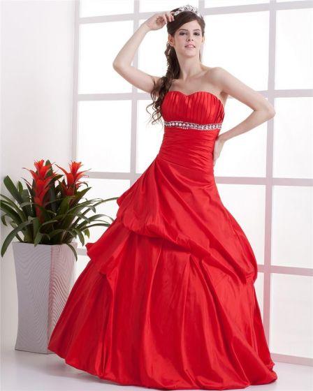 Vestido De Bola Del Amor Aline Piso De Longitud Tafetán Con Cuentas Personalizadas Vestidos De Gala De Quinceañera Prom