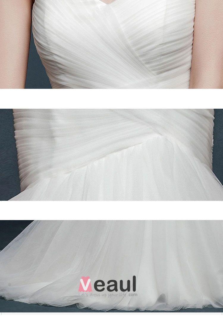 2015 Winter Fashion Simple Lady Temperament Fishtail Bridal Trailing Wedding Dress