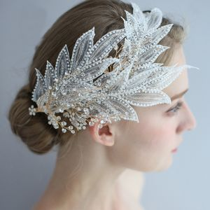 Charming Gold Headpieces Bridal Hair Accessories 2020 Alloy Beading Rhinestone Crystal Accessories