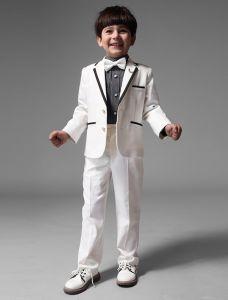 Kinder Weißen Anzüge, Anzüge Jungen Hochzeit 4 Sätze