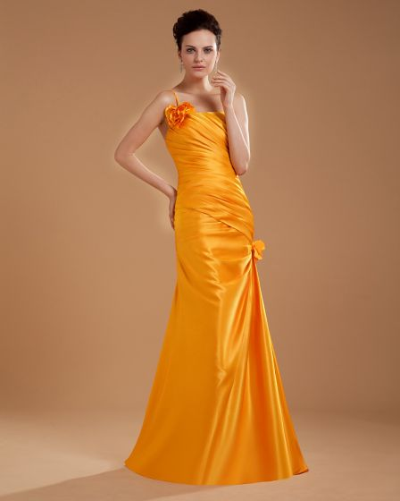 One Shoulder Flower Floor Length Mothers of Bride Guests Dresses