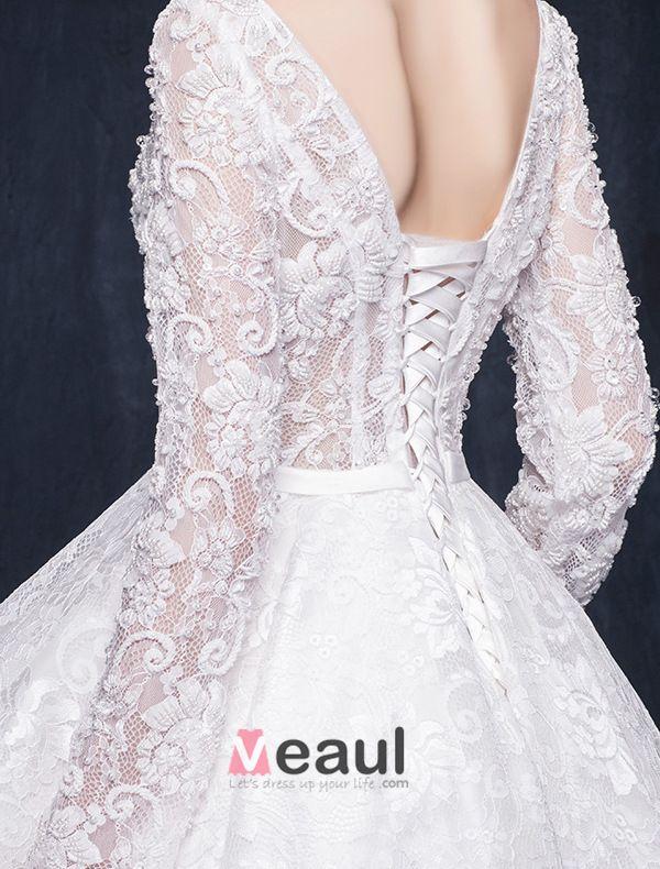 Gorgeous A-line Square Neckline Ruffle Asymmetrical Short Lace Wedding Dress