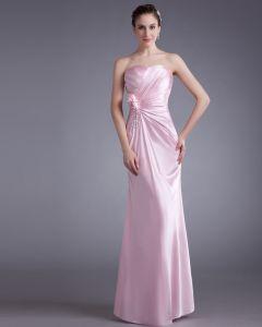 Ruffle Flower Sequins Sweetheart Floor Length Bridesmaid Dress