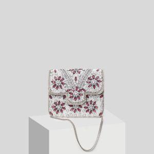 Chic / Belle Gris Perlage Faux Diamant Pochette 2019