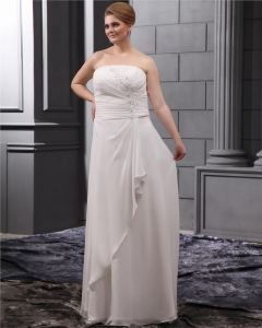 Applique Beading Sweep Plus Size Bridal Gown Wedding Dress