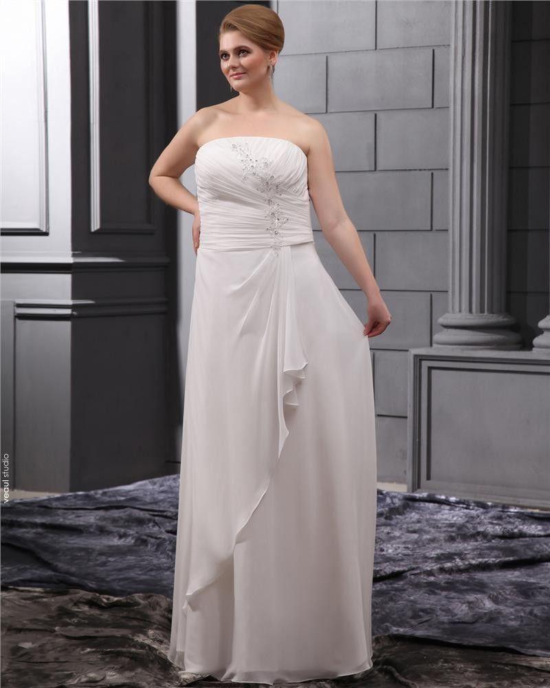 Applique Beading Sweep Plus Size Bridal Gown Wedding Dress