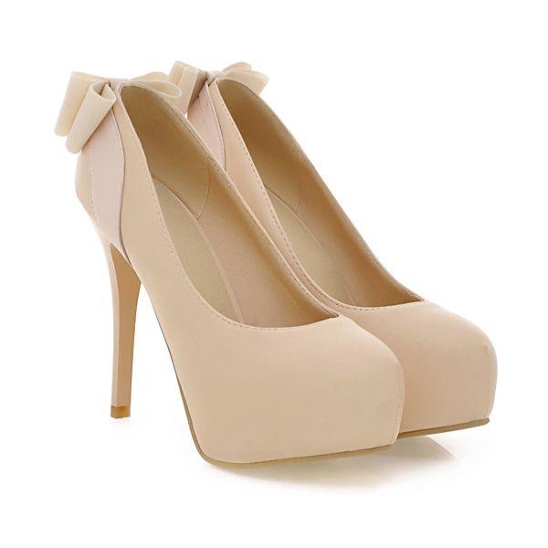 5492e20a Bombas Desnudos Elegantes Para Mujer Tacones De Aguja Zapatos De Cuero  Sintético De Tacón Alto Con ...
