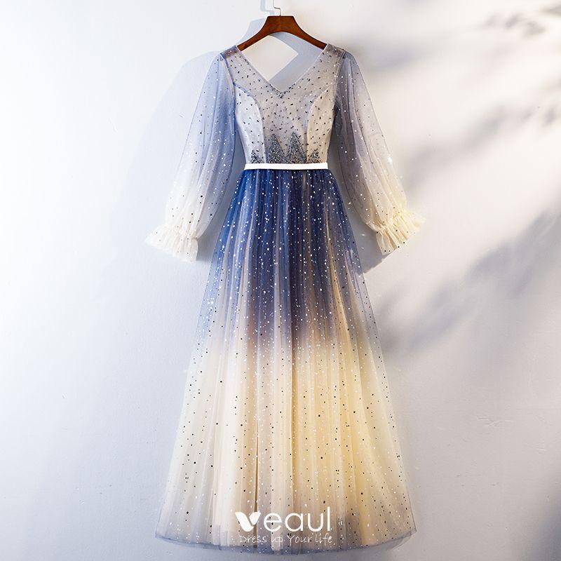 Robe degrade bleu
