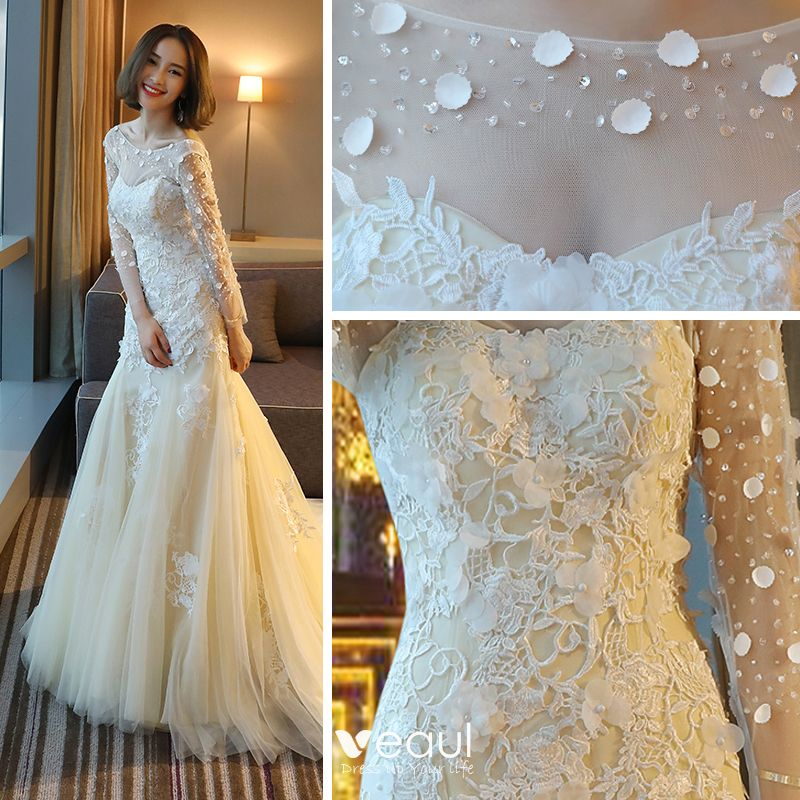 30 Exquisite Elegant Long Sleeved Wedding Dresses Chic: Elegant Chic / Beautiful Hall Wedding Dresses 2017 Lace