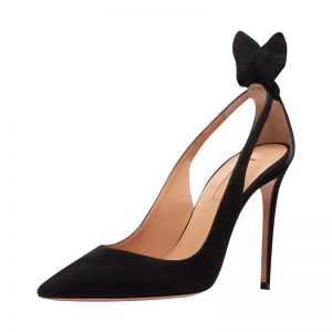 Sexy Black Evening Party Leather Womens Shoes 2020 10 cm Stiletto Heels Pointed Toe Heels
