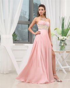 Sweetheart Sleeveless Zipper Beading Charmeuse Floor Length Woman Prom Dress