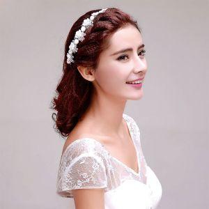 Sweet Handgemaakte Parel Bloemblaadjes Bruids Hoofdtooi / Head Bloem / Bruiloft Haar Accessoires / Bruiloft Sieraden
