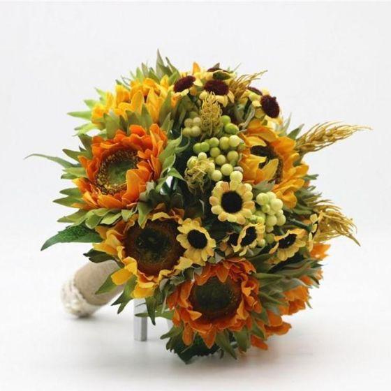 09e552fe51fa Klassisk Eleganta Multi-Färger Brudbukett Konstgjorda Blommor Bröllop  Blomma 2019