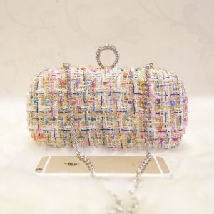 Chic / Beautiful Multi-Colors Braid Clutch Bags 2018