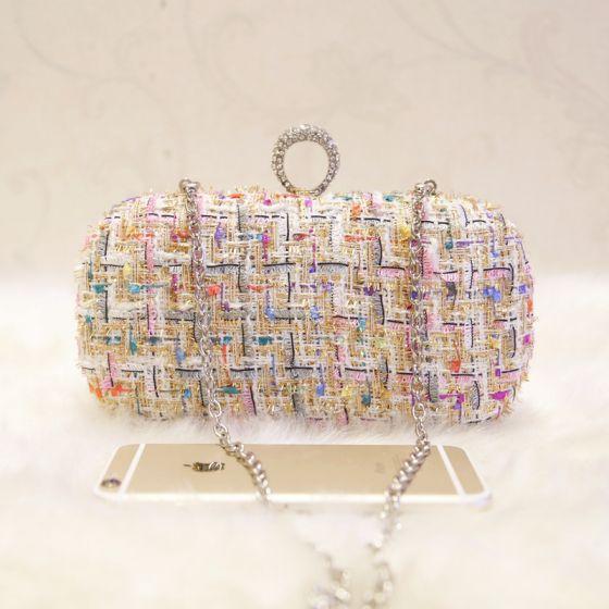 Chic / Beautiful Multi-Colors Braid Clutch Bags 2018