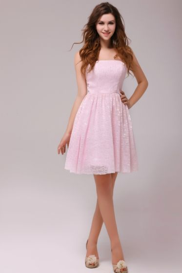 2015 Graceful A-line Knee-length Pink Cocktail Dress