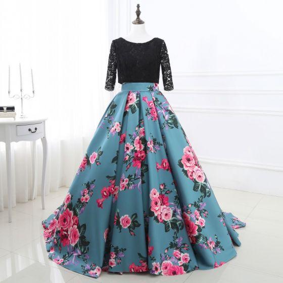 Chic Beautiful Jade Green Prom Dresses 2018 A Line Princess