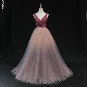 robe bordeau longue