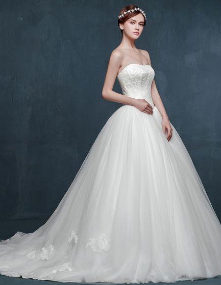 2015 Simple Winter Bridal Or Pregnant Women Long-trailing Puff-dress ...