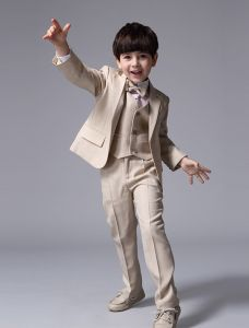 Beige Boys' Wedding Suits Children's Suits 4 sets