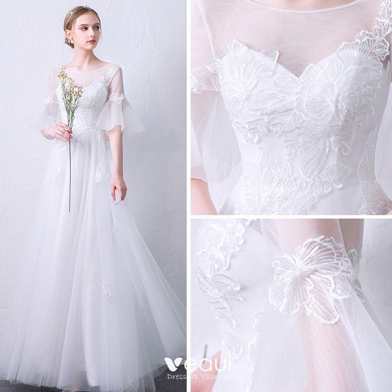Abendkleider weiß lang