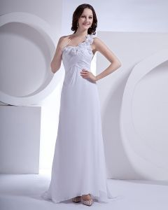 Une Fleur Tribunal Gaine Nuptiale Robe De Mariée Robe De Mousseline Epaule