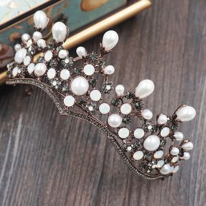 Vintage Bridal Jewelry 2017 Wedding Metal Accessories Rhinestone Tiara Ivory Pearl
