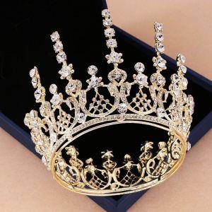 Vintage Oro Tiara Accesorios 2019 Metal Rhinestone Tocados de novia