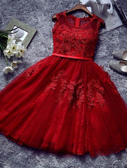 Vestidos cortos en color rojo