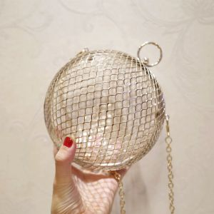 Amazing / Unique Gold See-through Pierced Metal Clutch Bags 2018