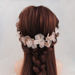 Chic / Beautiful Gold Flower Headpieces Bridal Hair Accessories 2020