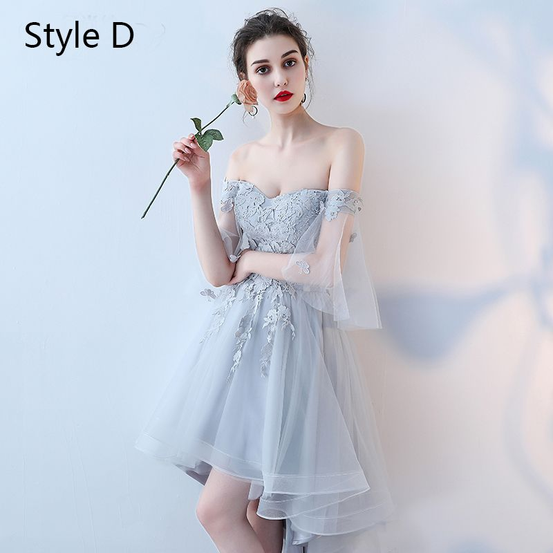 Chic / Beautiful Sky Blue Bridesmaid Dresses 2017 A-Line / Princess Lace Flower Backless Short Bridesmaid Wedding Party Dresses