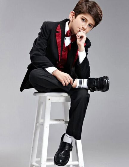 7 Kinds Of Color Kids Suits Boys Wedding Suits For Children