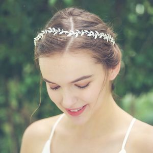 Modest / Simple Silver Headpieces Bridal Hair Accessories 2020 Alloy Rhinestone Wedding Accessories