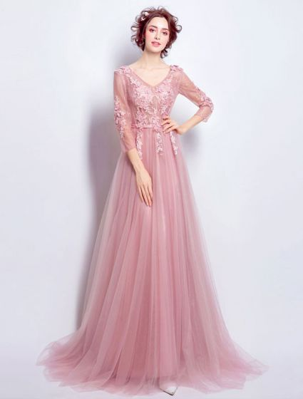 dcd420ea9bd beautiful-pink-tulle-evening-dress-with-long-sleeves-425x560.jpg